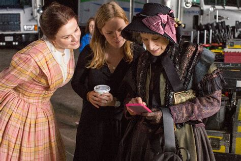 sarah polley the handmaid s tale on the set of alias grace with margaret atwood virago