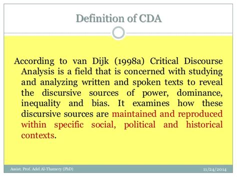Critical Essay Definition by Critical Discourse Analysis Adel Thamery