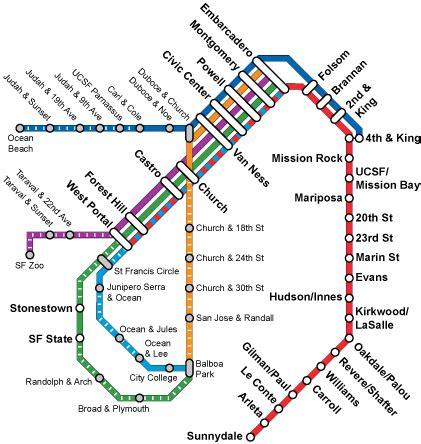 san francisco muni underground map muni metro transit wiki