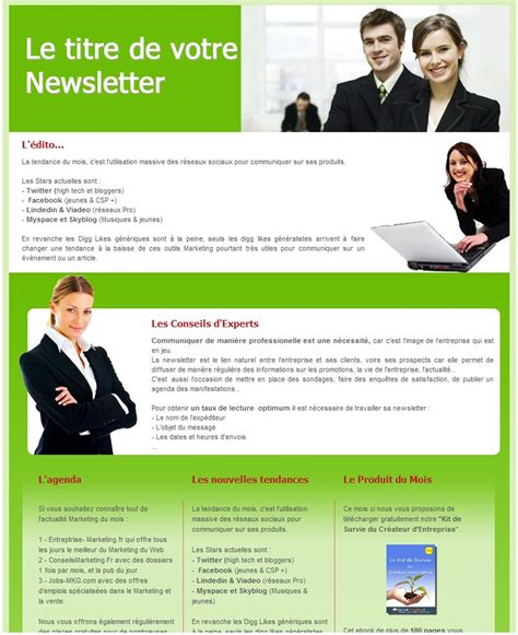 Modèle De Newsletter