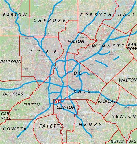 atlanta city usa map atlanta city map usa