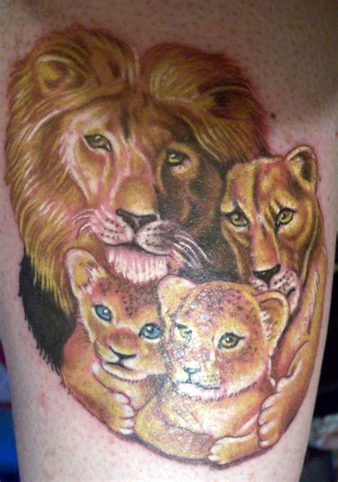lion family tattoo 69 meaningful family tattoos designs mens craze