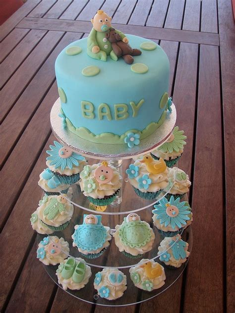 mossys masterpiece baby boy baby shower cake cupcakes by