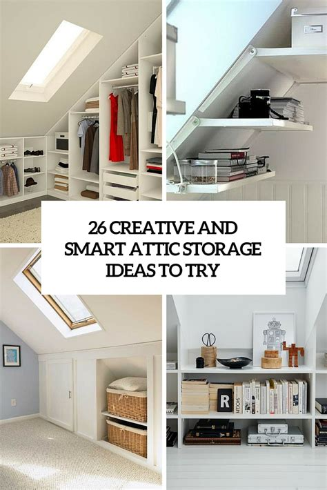 Storage Wall Units For Bedrooms 26 creative and smart attic storage ideas to try shelterness