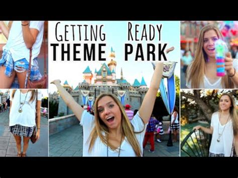 theme park hairstyles getting ready theme park makeup outfits youtube