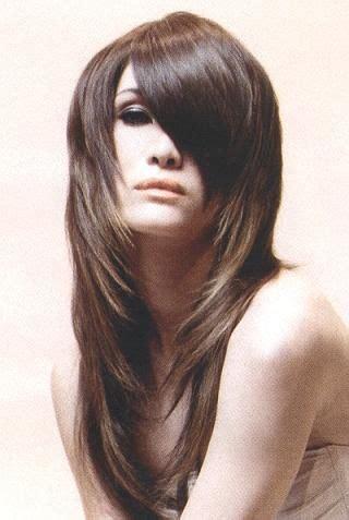 hair cuts insteps from back frisuren f 252 r lange haare mit pony schr 228 g