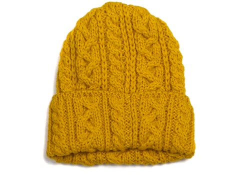 yellow hat pattern highland 2000 yellow cable knit hat highsnobiety