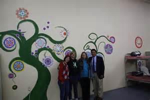 Tree Wall Murals mandala mural 13 circles of healing by gwen hammarstrom