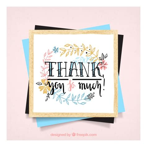 beautiful thank you card template beautiful thank you card template vector free