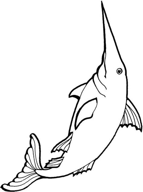 free coloring pages of a swordfish