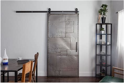 Rustica Hardware Mountain Scrap Metal Door Top Mount Steel Barn Doors