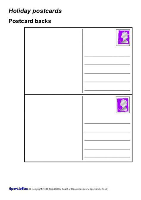 sparklebox postcard template sparklebox postcard template writing frames and printable
