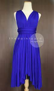 Convertible Infinity Bridesmaid Wrap Dress Royal Blue Bridesmaid Convertible Dress Infinity By