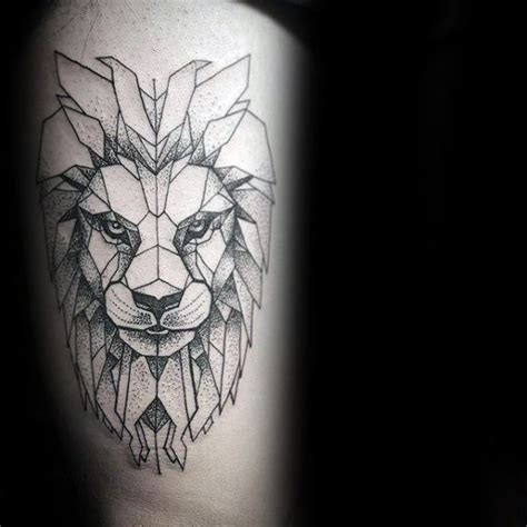 60 awesome geometric lion tattoos will twist your mind