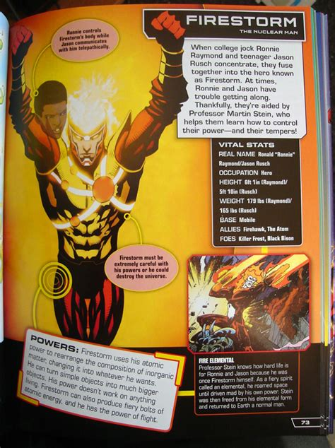 dc comics ultimate character guide firestorm in dc comics ultimate character guide once