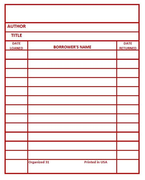 printable library card library card printable make your own library book cards