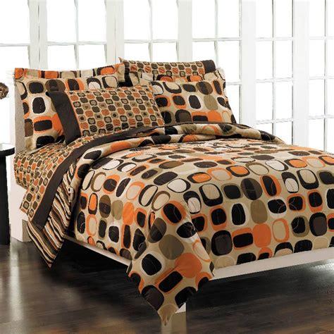 dark orange comforter opus orange bed in a bag with sheet set free shipping