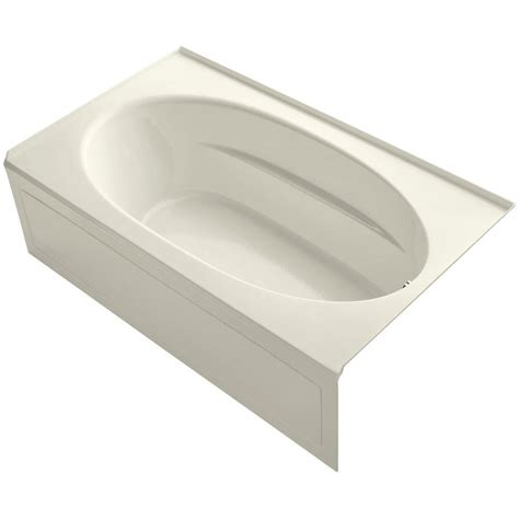 bathtub flange kohler windward 6 ft right hand drain bathtub with tile