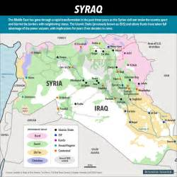 Map Of Syria And Iraq map of islamic state in iraq and syria business insider