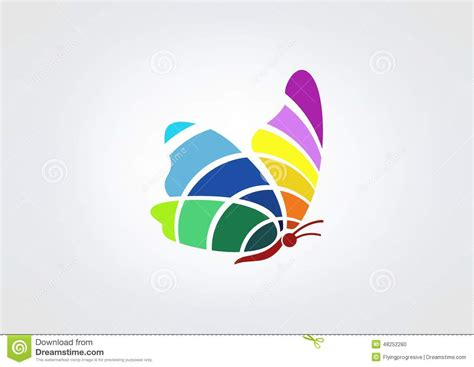 colorful butterfly logo butterfly logo stock vector image of curl