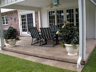 Small Backyard Concrete Patio Designs 22 Best Images About Patio Ideas On Sted