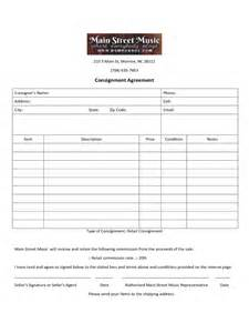 consignment contract template doc 585722 free consignment contract template