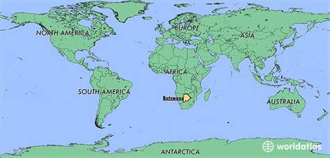 botswana on a world map where is botswana where is botswana located in the