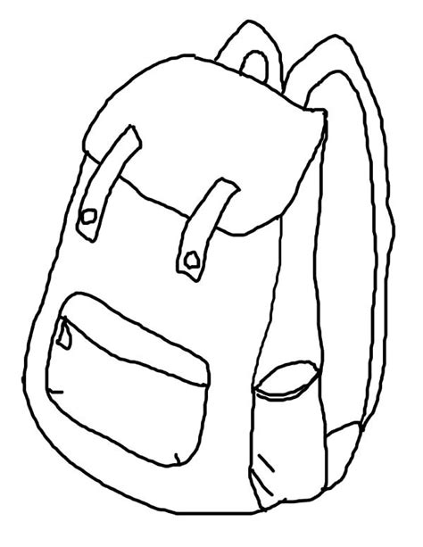 Free Coloring Pages Of Backpack Backpack How To Draw Coloring Pages