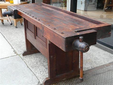 cabinet makers bench industrial cabinet maker s workbench attributed to