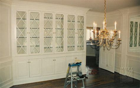 Built Ins Bookcases Mitre Contracting Inc Dining Room Built Ins