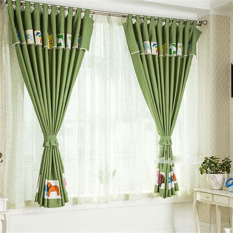 short length bedroom curtains cute green short length curtains for children bedroom with