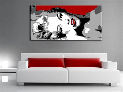 acrylic paint walls painting marilyn pop painted on canvas