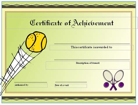 tennis gift certificate template free tennis certificates on womens tennis world