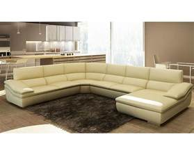 Modern Italian Leather Sofa Modern Beige Italian Leather Sectional Sofa 44l5957