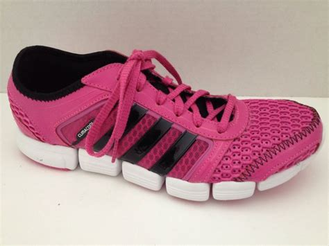 adidas climacool shoes womens size 6 ortholite sneaker pink lace up nonmark sole adidas