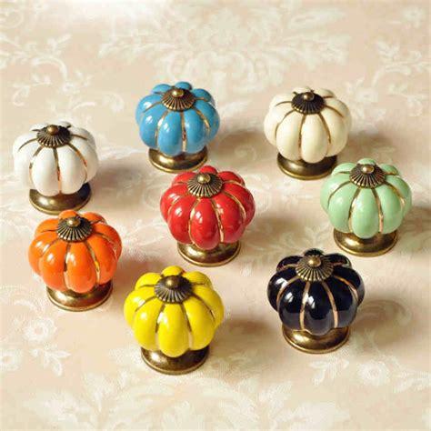 Drawer Knobs Pumpkin Knobs Dresser Knob Drawer Pulls Handles Knobs Ceramic