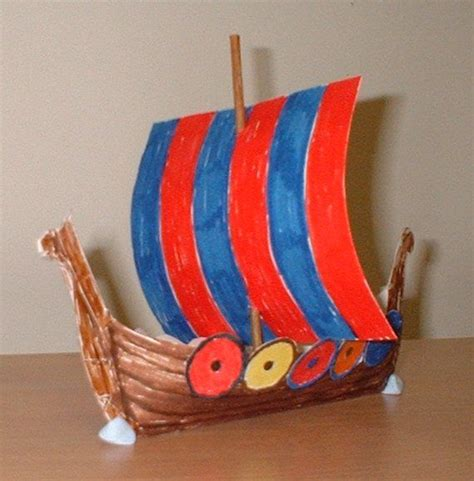 How To Make A Viking Longship Out Of Paper - template for building a viking longship vikings