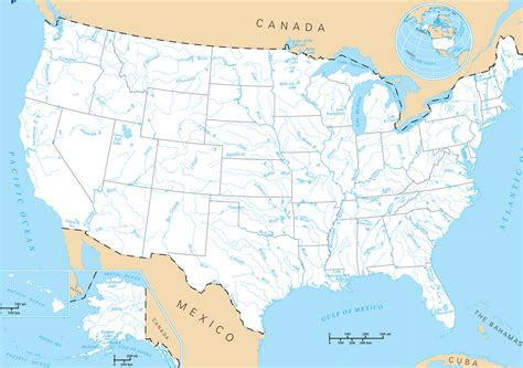 Faire Un Mba En Gratuit Aux Etats Unis by Carte Fleuves Rivi 232 Res Et Lacs Usa Etats Unis Guide De