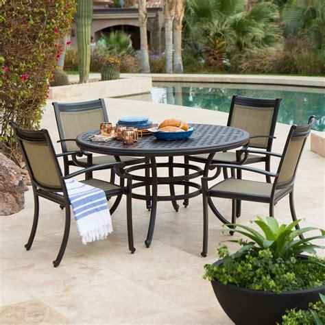 cast aluminum patio dining sets cast aluminum