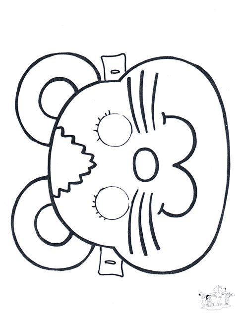 mouse mask template printable free coloring pages of mouse mask