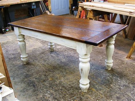 farmers tables  kitchen custom oak wood farmhouse