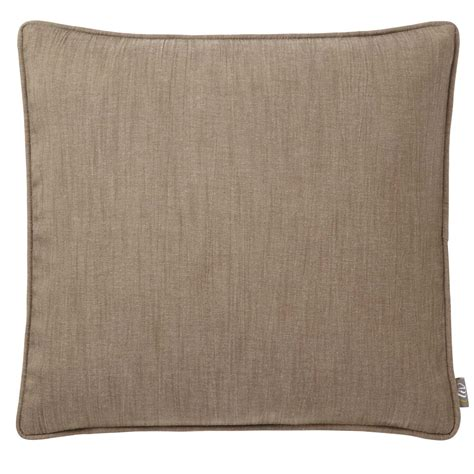 cusion pads adara linara taupe feather filled cushion 43 x 43 cms