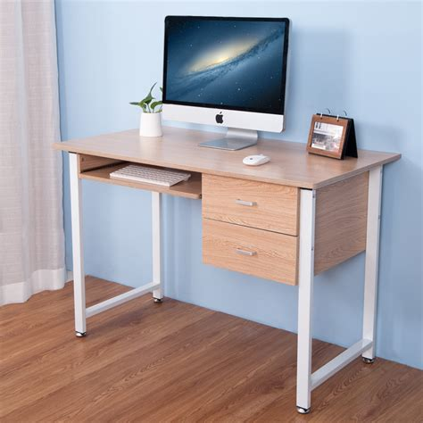 Life Carver 2017 Compact Computer Desk With 2 Drawers Home Small Computer Desk With Drawers