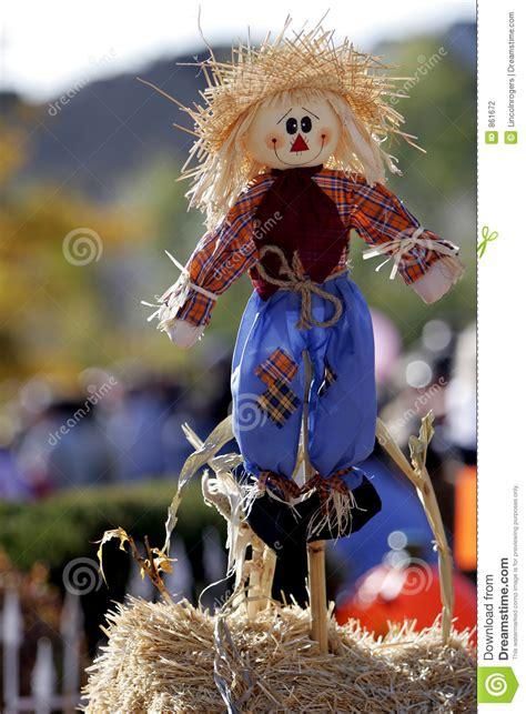 happy scarecrow  stock photography image