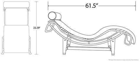 chaise lounge dimensions le corbusier lc4 chaise lounge clearance sale regency shop