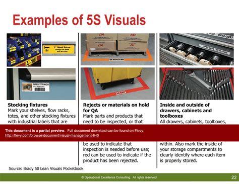 5s visuals exles business methodologies