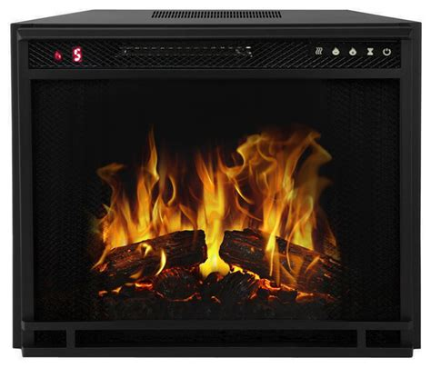 contemporary electric fireplace insert 23 quot led electric firebox fireplace insert contemporary