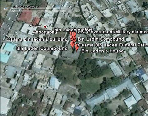 bin laden abbottabad google earth where on google earth was osama bin laden screenshots