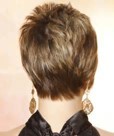 hairstyles for 50 back view short straight casual hairstyle medium brunette caramel
