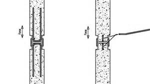 Wall to wall connection for a stair well which allows the fixing to